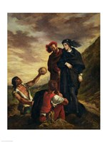 Hamlet and Horatio in the Cemetery, from Scene 1, Act V of 'Hamlet' Framed Print