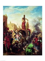 Olinda and Sophronia on the Pyre by Eugene Delacroix - various sizes, FulcrumGallery.com brand