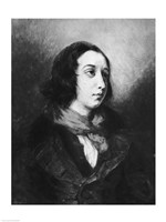 Portrait of George Sand, 1838 Fine Art Print