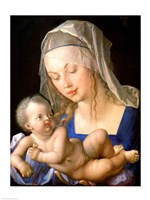 Virgin and child holding a half-eaten pear, 1512 Fine Art Print