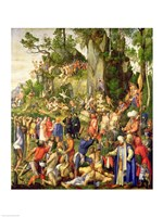 Martyrdom of the Ten Thousand, 1508 Fine Art Print