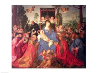 Garland of Roses Altarpiece, 1600 Fine Art Print