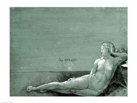 Reclining female nude, 1501 Fine Art Print
