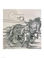 Triumphal Chariot of Emperor Maximilian I of Germany: detail Fine Art Print