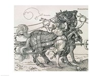 Triumphal Chariot of Emperor Maximilian I of Germany: detail of the horse teams Fine Art Print