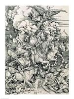 The Four Horsemen of the Apocalypse, Death, Famine, Pestilence and War by Albrecht Durer - various sizes