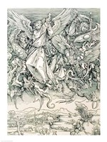 St. Michael Battling with the Dragon from the 'Apocalypse' by Albrecht Durer - various sizes