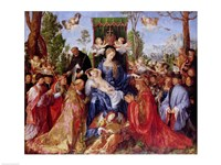 The Festival of the Rosary, 1506 Fine Art Print