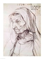 Portrait of the artist's mother, 1514 by Albrecht Durer, 1514 - various sizes