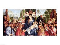 The Festival of the Rosary, 1506 - with crown Fine Art Print
