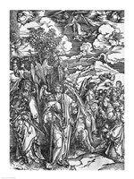 Scene from the Apocalypse, The Four Angels holding the winds by Albrecht Durer - various sizes - $16.49