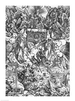 Scene from the Apocalypse, The Opening of the Seventh Seal by Albrecht Durer - various sizes - $16.49