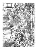 Scene from the Apocalypse, St. John devouring the Book by Albrecht Durer - various sizes - $16.49
