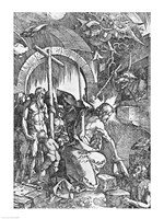 The descent of Christ into Limbo, from 'The Great Passion' Fine Art Print