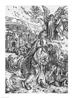 Scene from the Apocalypse, The angel holding the keys of the abyss and a big chain by Albrecht Durer - various sizes - $16.49
