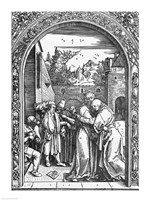 The meeting of St. Anne and St. Joachim at the Golden Gate Fine Art Print