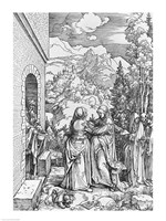 The Visitation, from the 'Life of the Virgin' series, 1503 by Albrecht Durer, 1503 - various sizes - $16.49