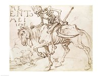 Death Riding, 1505 Fine Art Print