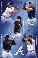 Braves - Collage 11 Wall Poster