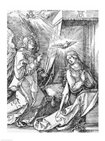 The Annunciation from the 'Small Passion' series, 1511 by Albrecht Durer, 1511 - various sizes