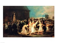Procession of Flagellants, 1815-19 Fine Art Print