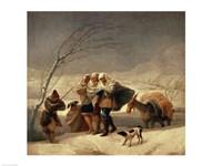 The Snowstorm, 1786-87 Fine Art Print