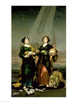 St. Justina and St. Rufina, 1817 by Francisco De Goya, 1817 - various sizes