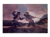 Duel with Clubs Fine Art Print
