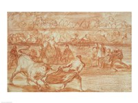 Bullfighting by Francisco De Goya - various sizes, FulcrumGallery.com brand