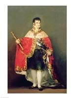 Portrait of Ferdinand VII Fine Art Print