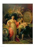 Allegory of the City of Madrid, 1810 Fine Art Print