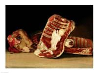 Still life of Sheep's Ribs and Head by Francisco De Goya - various sizes, FulcrumGallery.com brand