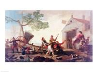 The Fight at the Venta Nueva, 1777 Fine Art Print