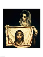 St.Veronica with the Holy Shroud Fine Art Print