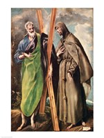 SS. Andrew and Francis of Assisi by El Greco - various sizes
