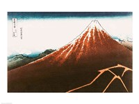 Fuji above the Lightning Fine Art Print
