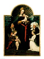 Madonna of the Burgermeister Meyer by Hans Holbein The Younger - various sizes