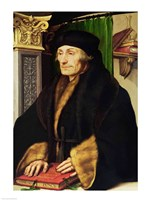 Portrait of Erasmus, 1523 Fine Art Print
