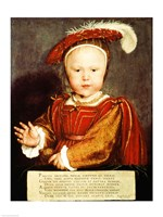 Portrait of Edward VI as a child Fine Art Print