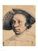 Portrait of a Youth in a Broad-brimmed Hat by Hans Holbein The Younger - various sizes
