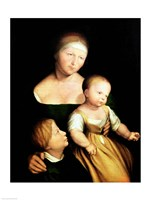 The Artist's Wife and Children, 1528 Fine Art Print