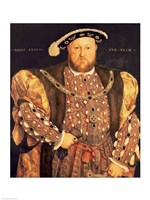 Portrait of Henry VIII A Fine Art Print