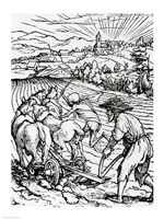Death and the Ploughman Fine Art Print
