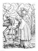 Death and the Old Woman by Hans Holbein The Younger - various sizes