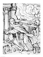 Death and the Mendicant Friar by Hans Holbein The Younger - various sizes
