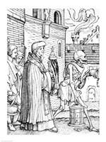 Death and the Parish Priest Fine Art Print