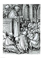 Death and the Preacher by Hans Holbein The Younger - various sizes
