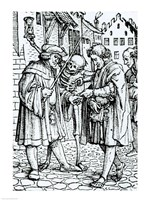 Death and the Barrister by Hans Holbein The Younger - various sizes
