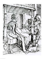 Death and the Lady by Hans Holbein The Younger - various sizes