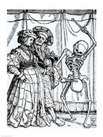 Death and the Noblewoman by Hans Holbein The Younger - various sizes